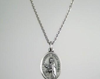 Saint Dominic de Guzman Medal Necklace