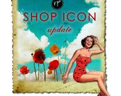 Shop Icon, Upgrade, Made to Match, Graphic Design