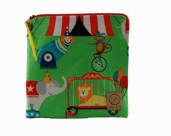 Sandwich Size Reusable Bag - Circus Fun
