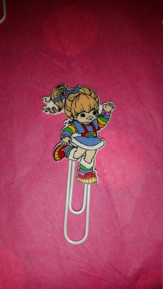 Rainbow Brite theme large planner paperclip!