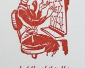 What the S*** is This Hot Mess? - EXPLICIT - Exasperated 1950s Woman - Handmade Letterpress Card - Humor, Sympathy, Encouragement
