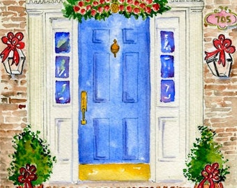 Home Portrait ~Custom Home Painting ~Watercolor ~  Illustration 8x10 Perfect Gift for the Holiday