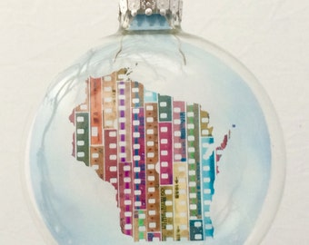 Limited Edition State of Mind Christmas Ornament - Wisconsin