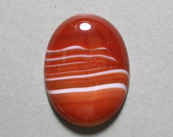 banded RED AGATE cabochon oval 30X40mm dome designer cab