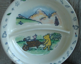 Winnie the Pooh child's plate