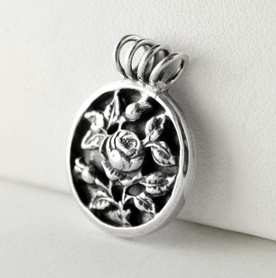 Rose Garden Sterling Silver Pendant