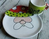 Cookies for Santa Plate,  Christmas Gift kids, personalized Mug Set, Personalized Christmas Kids