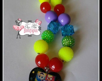 INSIDE OUT Chunky Necklace- Chunky bubblegum necklace, Girls chunky necklace, Gumball necklace