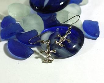 Fleur de Lis Charm Earrings - Silver charms - Womens Accessories - Teens Jewlery