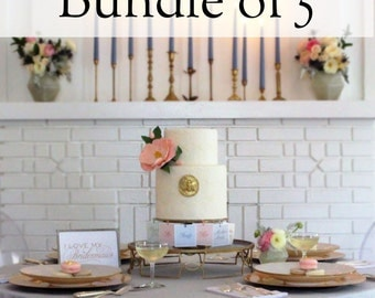 Bridal Shower Game - 5 Charm Cake Pulls for your Bridesmaids & Flower Girls