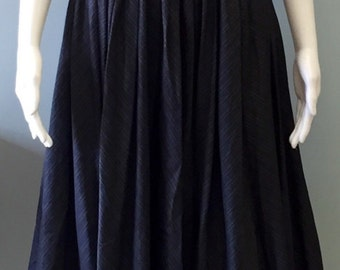 Vintage Pat Premo 1950s navy and tan striped dress
