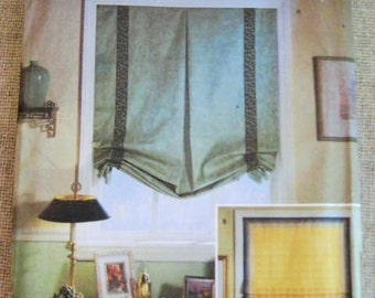 Simplicity Home Sewing Pattern 9117 for Window Shades With Woven Tape / Donna Lang Interior Designs Window Shade Pattern