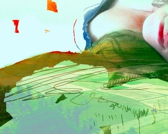 Pop Surrealism iPhonography digital art lips landscape abstract art