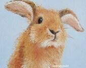 Rabbit painting, nursery wall art, nursery decor, Easter bunny art, kids wall art, bunny painting, Easter gifts, Jan Matson, Etsy Art