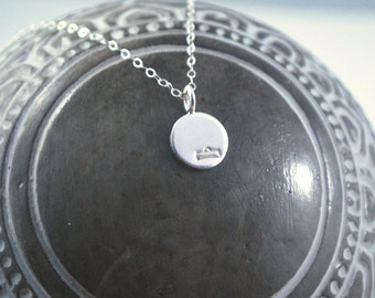 LIBRA dainty coin necklace. small silver zodiac necklace Libra symbol jewelry Meaningful thoughtful gift or great layering necklace Starsign