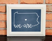 College Pride - Penn State Artwork - We Are... Penn State - Penn State - Blue and White - Man Cave Artwork - College Decor