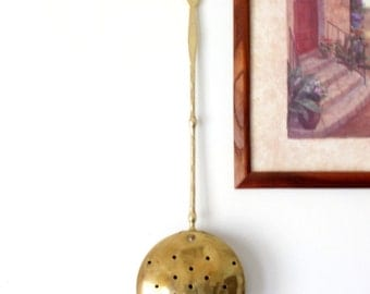 Antique Brass Bed Warmer