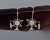 Spirit Mask Earrings - Sterling Silver