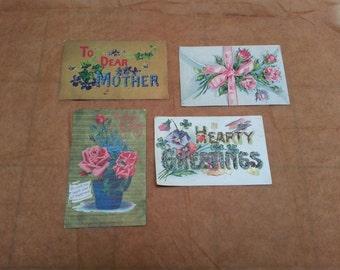 Vintage postcards set of 4 - NEW not written on!