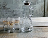 Vintage Pitcher / Carafe / Decanter with Corked Top