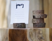 2016 Hand Lettered Desk Calendar with Wood Stand
