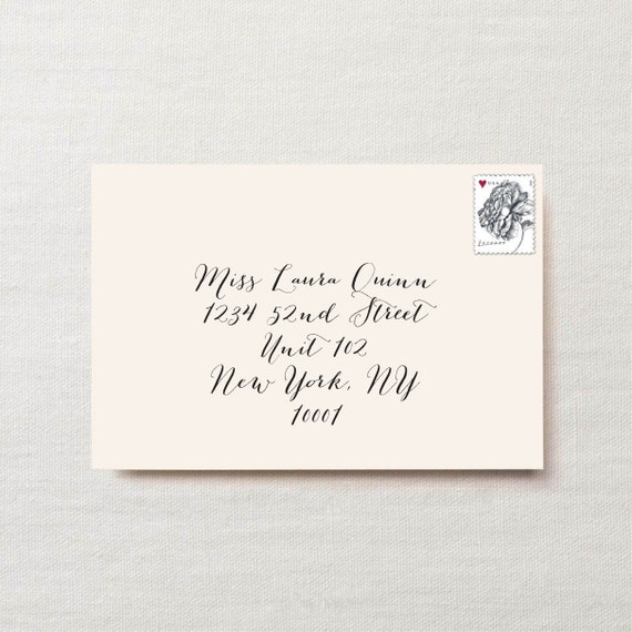 Wedding Party Invitation Envelope Name And Address