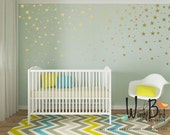 Gold decal star confetti shapes for baby girl or baby boy Nursery