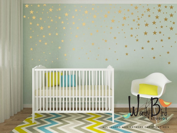 Gold Star Stickers Wall Decals For Baby Girl Or Baby Boy