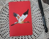 Young Whooping Crane - Hand Illustrated Pocket Sketchbook / Notebook / Journal