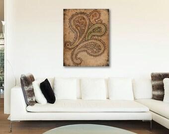 ON SALE 20% OFF By Candlelight - Canvas Print, bohemian decor, boho,  paisley illustration, canvas art, large wall art, bohemian art, paisle