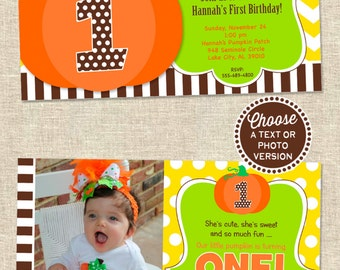 Pumpkin Patch Party Invitation | Pumpkin Birthday Invitation | Pumpkin Party Invitation | Thanksgiving Birthday | Amanda's Parties To Go