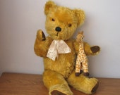 Vintage Pedigree Large Mohair Bear - 1950's to 1960's Toy - English Teddy - 22 inches