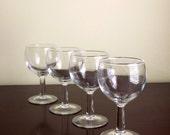 Clear Cordial Glasses, Wine Tasting Glasses, Barware, Small Stemmed Glass, Sherry Glass, Shot Glass, Set of 4 Mini Wine Glasses