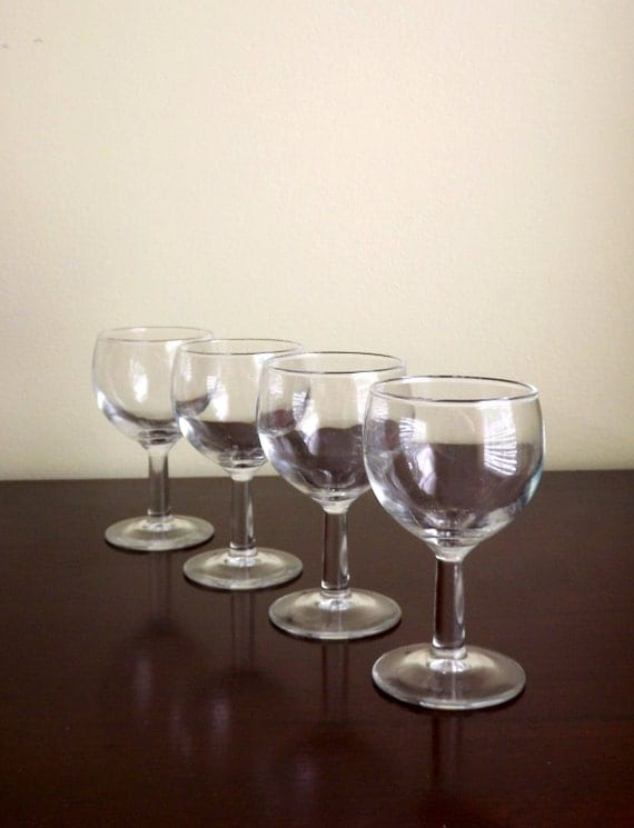 Clear cordial glasses wine tasting glasses barware small for Thin stem wine glasses