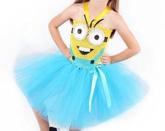 Girls Minion Costume- Despicable Me- Minions costume- Minion - birthday costume- Minion birthday