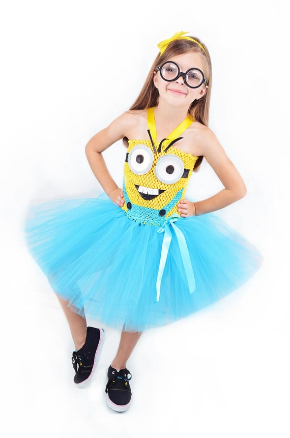 Girls Minion Costume- Despicable Me- Minions costume