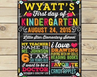 First Day of School Chalkboard - Back to School Printable - 1st Day of School Chalkboard Sign - Back to School Chalk board Sign - Any Grade