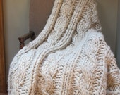 Luxurious Chunky Alpaca Throw Afghan