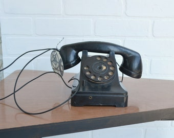 Vintage Toy Rotary Dial Telephone