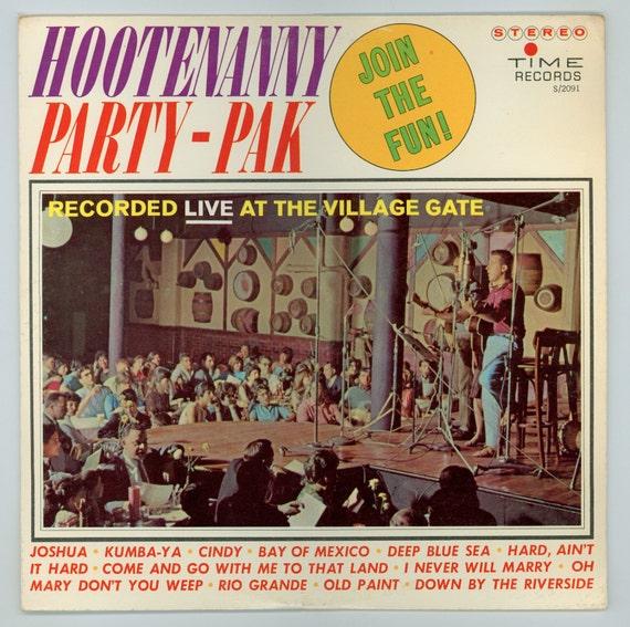 Village Gate Hootenanny Party Pak Folk Music Recorded Live