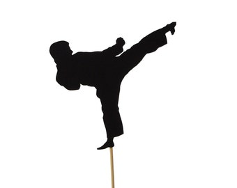 Karate Cake Topper, Martial Arts Party Decoration