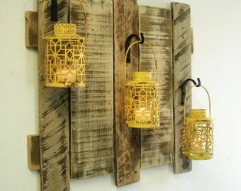 farmhouse style pallet wall decor with lanterns french pallet shelves as home decor not quite amish