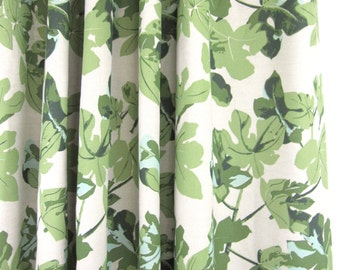 Peter Dunham Fig Leaf Custom Drapes (comes printed on Natural or White Linen)