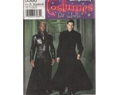 "Matrix Costume Sewing Pattern Neo's Duster Morpheus Trench Coat Cosplay UNCUT Chest 30-48"" (76-122 cm) Simplicity 5386"