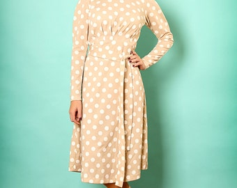 Printed midi dress,Elegant midi dress,Casual winter dress,Mid length dress,Tea length dress,Modest dress,Belted midi dress,Holiday dress