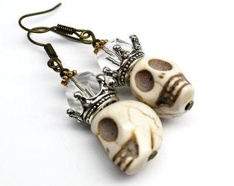 Crown Skull Earrings