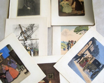 Philippe Ledoux Illustations From Elle et Lui The Novel By George Sand Fabulous For Framing A Folder of 8 Engravings From George Sand Book