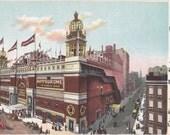 The Hippodrome- 1910s Antique Postcard- New York City, NY- Historical Landmark- Edwardian Souvenir- Paper Ephemera- Used