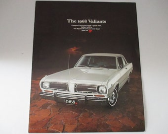 The 1968 Valiant Plymouth Cars Autos Automobiles Sales Brochure Pamphlet Form 81 505 8024 Car Specs Valiant 100 Signet Chrysler Motors