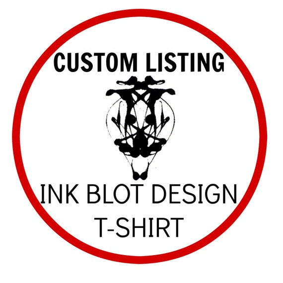 Unique Ink Blot T-Shirt - CUSTOM LISTING - Wearable Psychology - Non-toxic flexibly soft fabric paints - Adult Sm Cotton/Poly